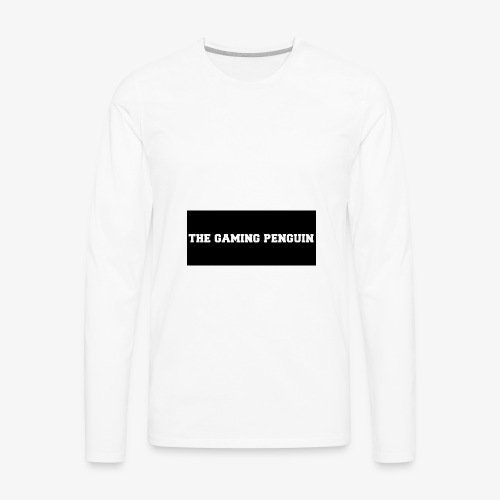 TheGamingPenguin Rectangle logo - Men's Premium Long Sleeve T-Shirt