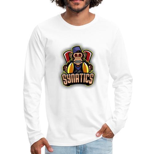 Synatics mascot logo - Men's Premium Long Sleeve T-Shirt