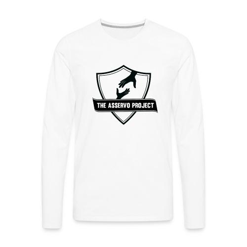 The Asservo Project Black Logo - Men's Premium Long Sleeve T-Shirt