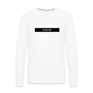 Stripe Logo Shirts and Hoodies. - Men's Premium Long Sleeve T-Shirt