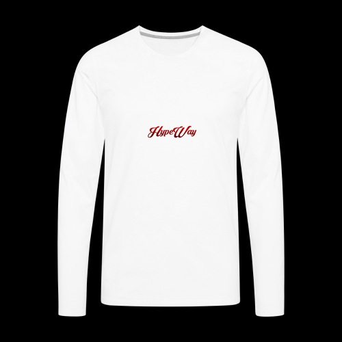 HypeWay Red Cursive - Men's Premium Long Sleeve T-Shirt
