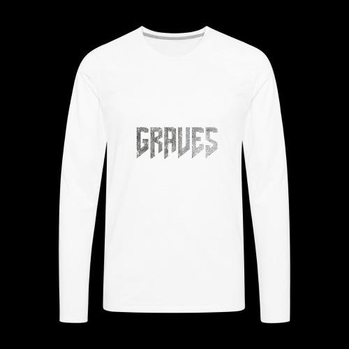 Graves Logo - Men's Premium Long Sleeve T-Shirt