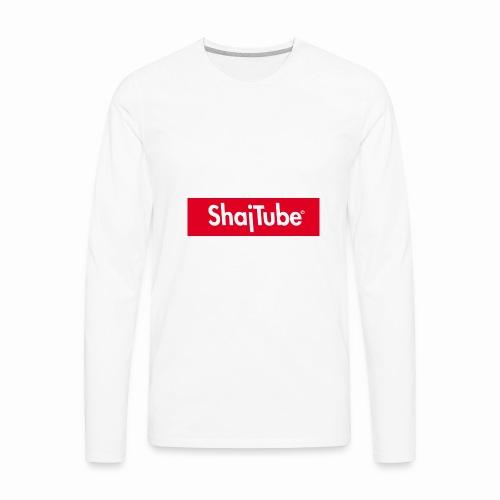 shajtube logo - Men's Premium Long Sleeve T-Shirt