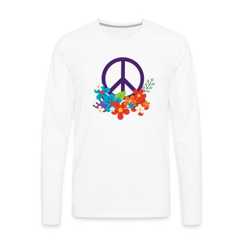 Hippie Peace Design - Men's Premium Long Sleeve T-Shirt
