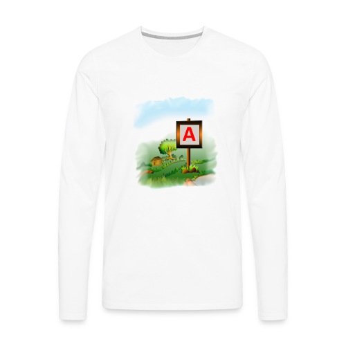Super nature kids love letter A banner - Men's Premium Long Sleeve T-Shirt