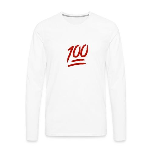 100 flawless - Men's Premium Long Sleeve T-Shirt