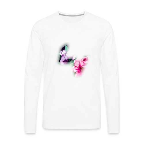 Floral Logo - Men's Premium Long Sleeve T-Shirt