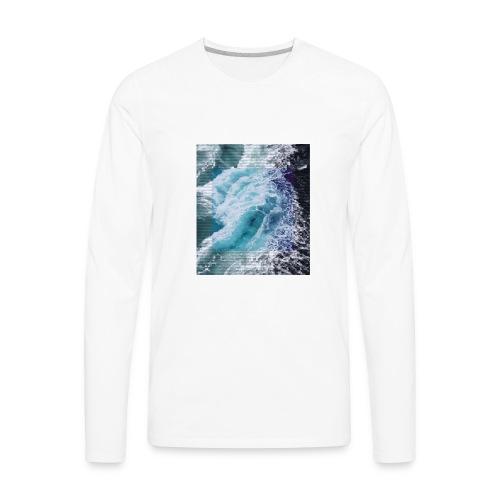 Wavy - Men's Premium Long Sleeve T-Shirt