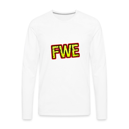 FWE Wrestling Logo - Men's Premium Long Sleeve T-Shirt