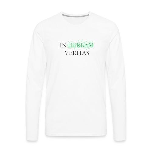 In herbam veritas - Men's Premium Long Sleeve T-Shirt