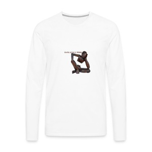 The Thinker Funny - Men's Premium Long Sleeve T-Shirt
