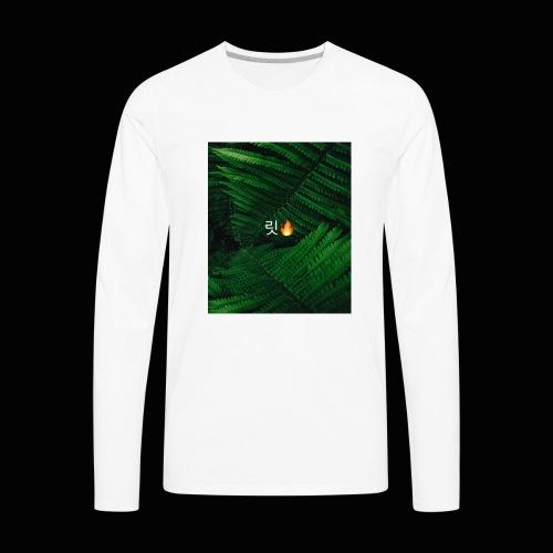 lit in the korean alphabet!! - Men's Premium Long Sleeve T-Shirt