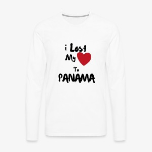 I lost my Heart to Panama Illustrated - Men's Premium Long Sleeve T-Shirt