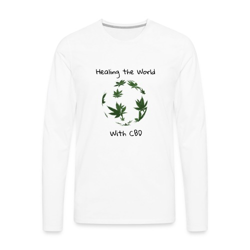 Healing the World with CBD - Men's Premium Long Sleeve T-Shirt