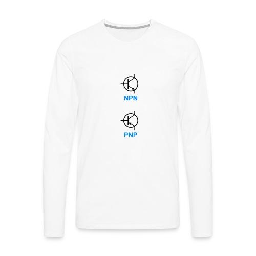 Transistors (NPN & PNP) - Men's Premium Long Sleeve T-Shirt