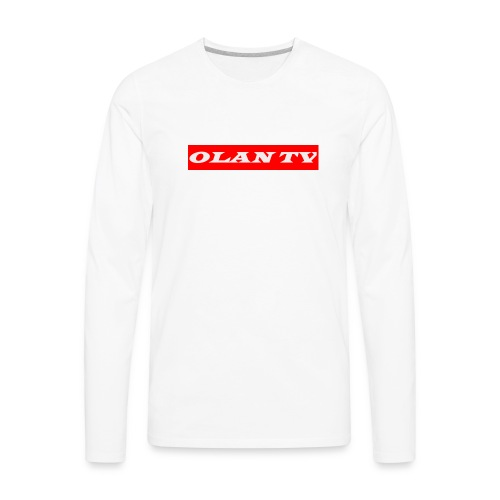 OLAN TV SUPREME TYPE LOGO - Men's Premium Long Sleeve T-Shirt