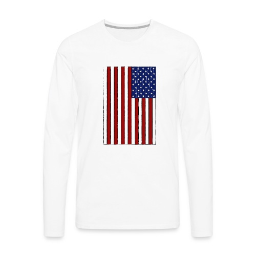 USA Flag (Distressed) - Men's Premium Long Sleeve T-Shirt