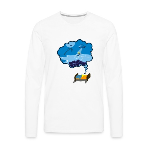 Strainge - Blue Dream Marijuana Strain shirt - Men's Premium Long Sleeve T-Shirt