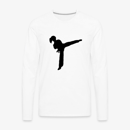 Girl Kicking - Men's Premium Long Sleeve T-Shirt