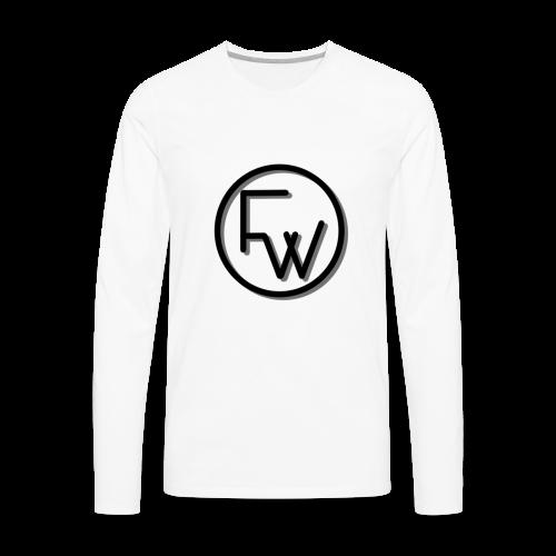 A Funny Wilson Production Black Logo - Men's Premium Long Sleeve T-Shirt