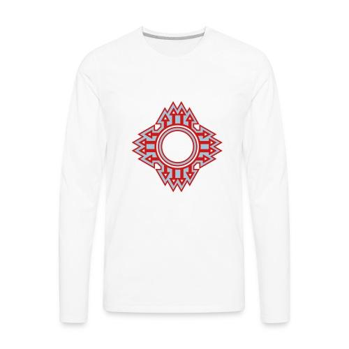 New Mexico Zia Symbol Streetwear - Men's Premium Long Sleeve T-Shirt