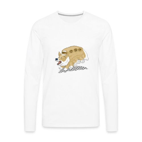 Corgbus: Jump inside for a Very Furry Ride. - Men's Premium Long Sleeve T-Shirt