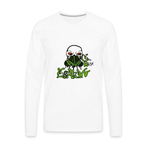 Leaking Gas Mask - Men's Premium Long Sleeve T-Shirt