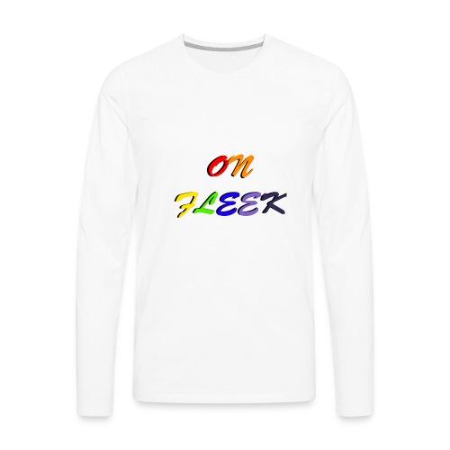 On Fleek -PACER- - Men's Premium Long Sleeve T-Shirt