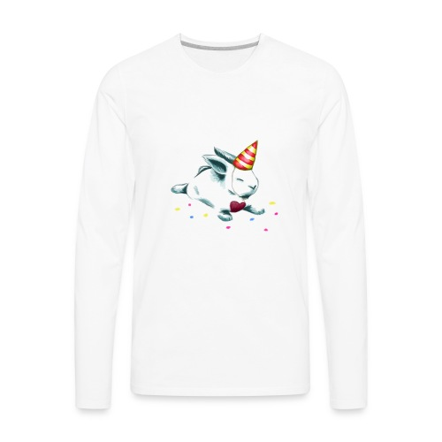 Birthday Bunny (or Unicorn Bunny) - Men's Premium Long Sleeve T-Shirt