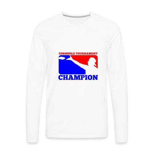 Cornhole Tournament Champion - Men's Premium Long Sleeve T-Shirt