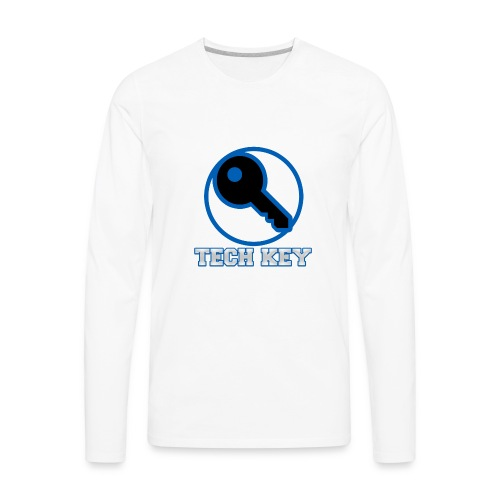 TechKey TV Logo - Men's Premium Long Sleeve T-Shirt