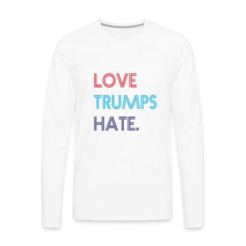 Love Trumps Hate Retro - Men's Premium Long Sleeve T-Shirt
