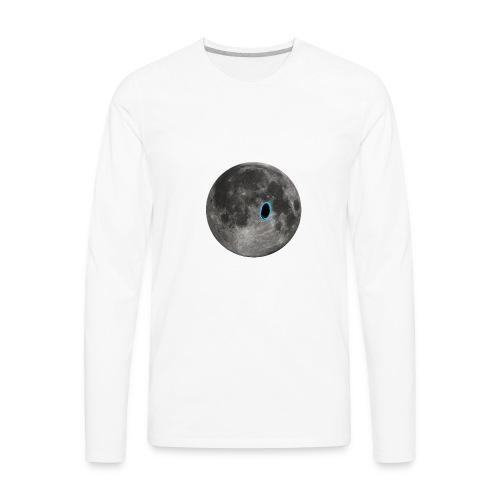 Portal on the Moon - Men's Premium Long Sleeve T-Shirt