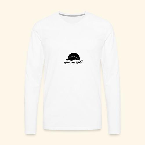 Horizon Gold Logo - Men's Premium Long Sleeve T-Shirt
