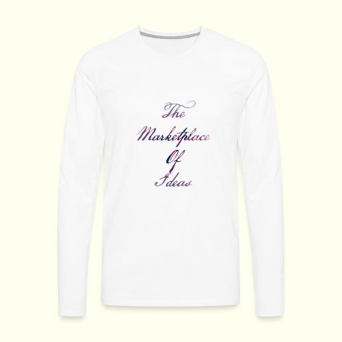 The Marketplace Of Ideas Word Logo - Men's Premium Long Sleeve T-Shirt