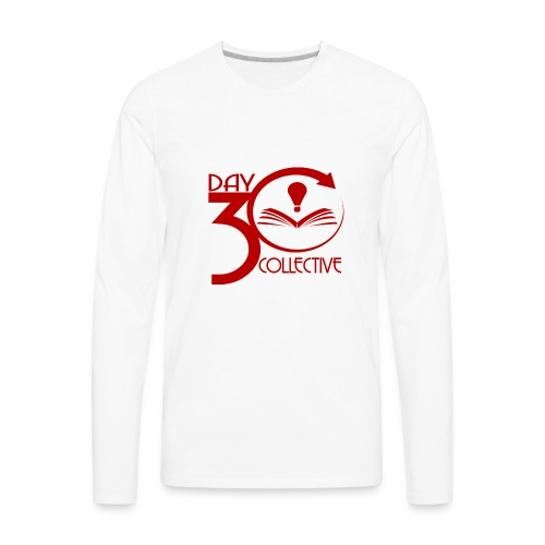 30 Day Collective Logo, Red - Men's Premium Long Sleeve T-Shirt