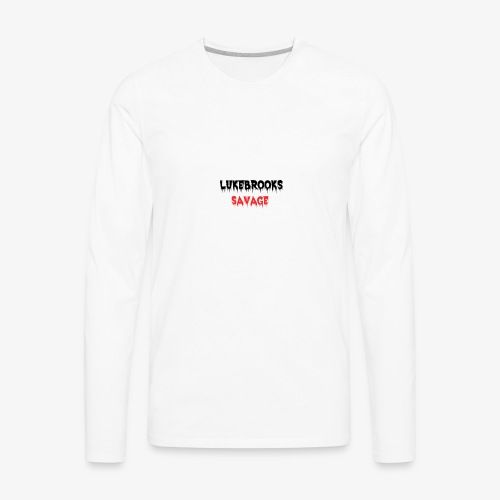 LukeBrooks#1SavageSpecial - Men's Premium Long Sleeve T-Shirt