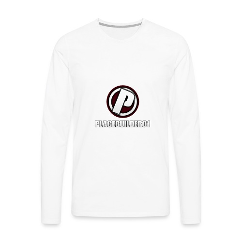 PlaceBuilder01 Merchandise Logo - Men's Premium Long Sleeve T-Shirt