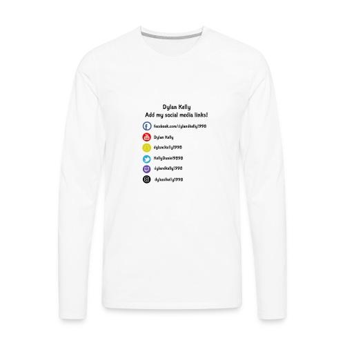 Dylan Kelly logo white shirt version - Men's Premium Long Sleeve T-Shirt