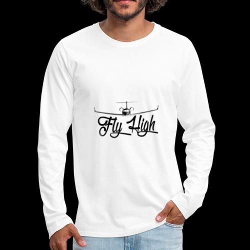 NEW FLY HIGH LOGO BLACK - Men's Premium Long Sleeve T-Shirt