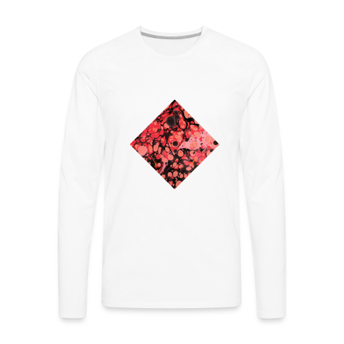 Red Diamond Shape - Men's Premium Long Sleeve T-Shirt