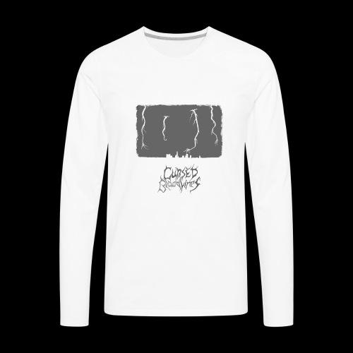 Cursed Bloodlines - City Destruction Logo - Men's Premium Long Sleeve T-Shirt
