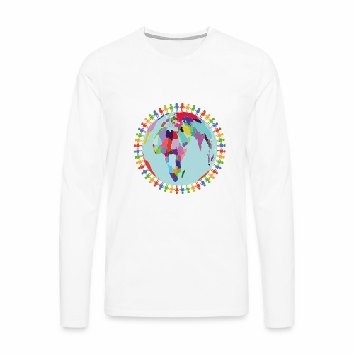 Community Group/Earth Globe/Earth Day/ Human Frame - Men's Premium Long Sleeve T-Shirt