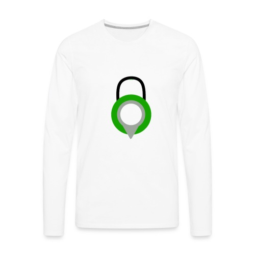 Lock Logo Design - Men's Premium Long Sleeve T-Shirt