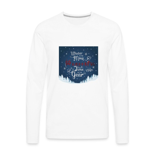 Winter Theme - Men's Premium Long Sleeve T-Shirt