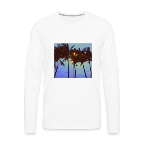 Palm Trees - Men's Premium Long Sleeve T-Shirt