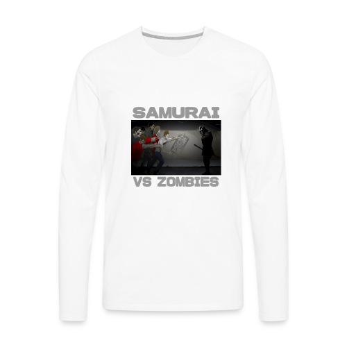 Samurai vs Zombies - Men's Premium Long Sleeve T-Shirt