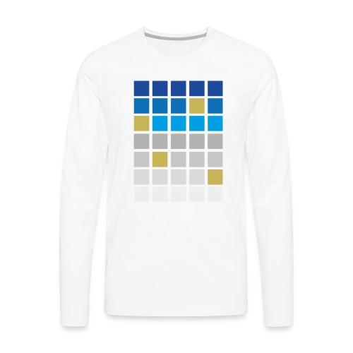 Futuristic Grid - Men's Premium Long Sleeve T-Shirt