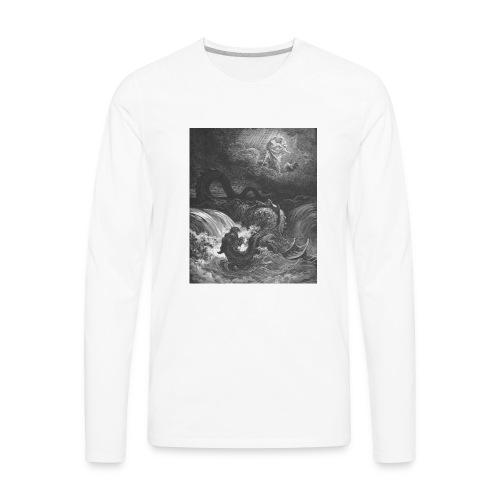 God Smites the Leviathan - Men's Premium Long Sleeve T-Shirt