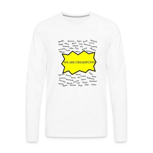 Creampuff Awareness - Men's Premium Long Sleeve T-Shirt